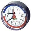 Термоманометр FAR d=80 мм, торцевое соединение 1/2